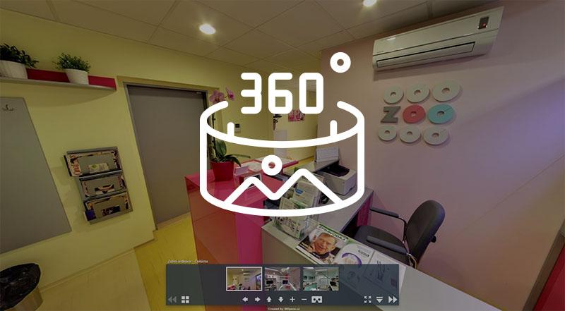 Zubní ordinace ZOO DENT Olšarová Frýdek-Místek virtuální prohlídka